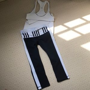Lululemon navy and white crops